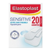Elastoplast Sensitive Hypoallergenic Plasters Assorted 20 Pack