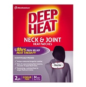 Deep Heat Neck & Joint Heat Patches Medium 2 Pack