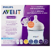 Avent Natural Wide-Neck Baby Bottles Blue 2 x 125ml