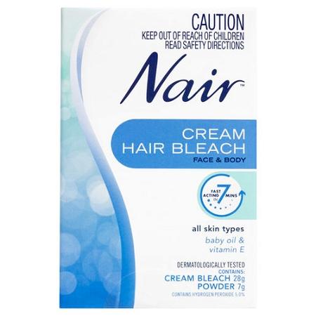 Nair Cream Hair Bleach for Face & Body 28g + Powder 7g