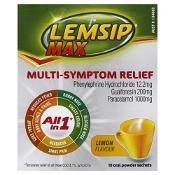 Lemsip Max Multi-Symptom Relief Cold and Flu Lemon 10 Pack