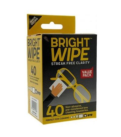 Bright Wipe Lens Wipe 40 Pack