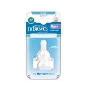 Dr Brown's Narrow Neck Level 4 Teats 2 Pack