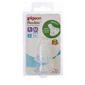 Pigeon Peristaltic Nipple Slim Neck Medium 2 Teats per Pack