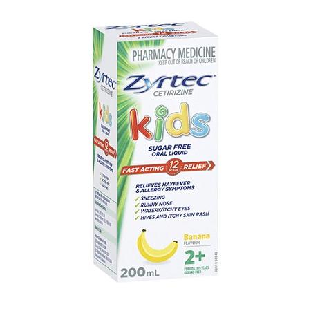 Zyrtec Kids Fast Acting Allergy & Hayfever Relief Banana 200ml