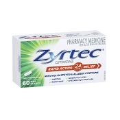 Zyrtec Allergy & Hayfever 60 Mini Tablets