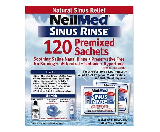 Neilmed Sinus Rinse Refill Sachets 120 Pack