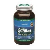Green Nutritionals Mountain Organic Spirulina 500mg 200 Tablets
