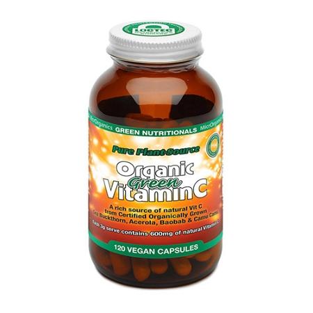 Green Nutritionals Organic Green Vitamin C 120 Capsules
