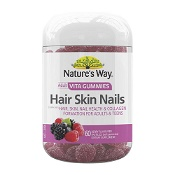 Natures Way Adult Vita Gummies Hair Skin & Nails 60 Pack