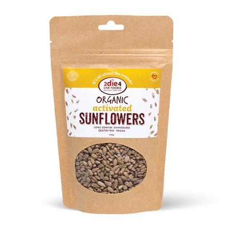 2Die4 Activated Organic Vegan Sunflower Seeds 200g