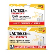 Lacteeze Children Strawberry 100 Chewable Tablets