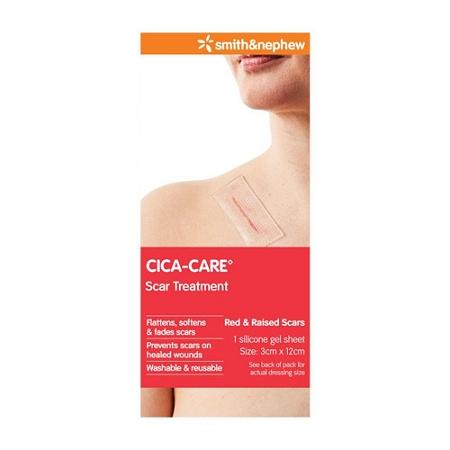 Smith & Nephew Cica-Care Scar Treatment Silicone Gel Sheet 12cm x 3cm Single