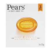 Pears Pure & Gentle Soap Bars 3 x 125g