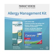 Nasonex 140 Sprays & Claratyne 10 Tablets Allergy Management Kit