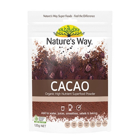 Natures Way Superfood Organic Cacao Powder 125g