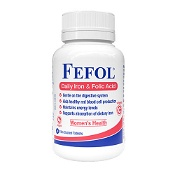 Fefol Daily Iron & Folic Acid 30 Tablets