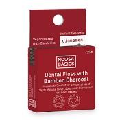 Noosa Basics Dental Floss with Bamboo Charcoal Cinnamon 35m