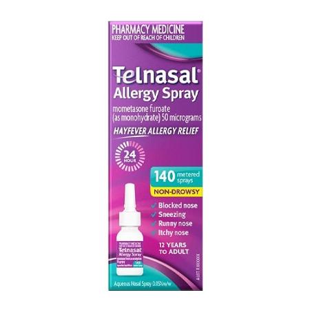 Telnasal Allergy Spray 140 Metered Sprays