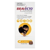 Bravecto Very Small Dogs 2-4.5kg 1 Chew