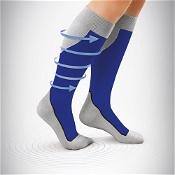 Jobst Sport Knee High Compression Sock 15-20mm Hg Large Royal Blue