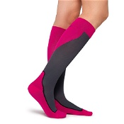Jobst Sport Knee High Compression Sock 15-20mm Hg Medium Pink