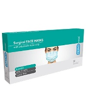 AeroMask Surgical Face Mask with Earloops Level 2 10 Pack