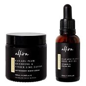 Alkira Brightening Pack (Antioxidant Night Cream 120ml & Vitamin C Facial Oil 30ml)