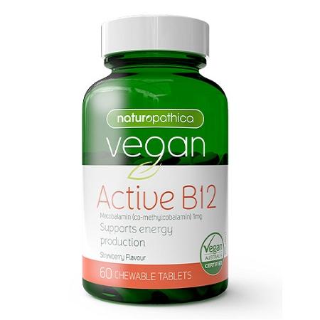 Naturopathica Vegan Active B12 60 Tablets