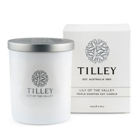 Tilley Scented Soy Candle Lily of the Valley 240g