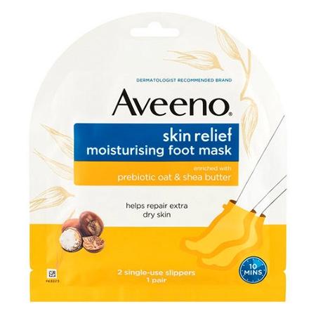 Aveeno Skin Relief Moisturising Foot Mask for Dry Skin 1 Pack