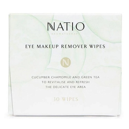 Natio Eye Make-Up Remover Wipes 30 Wipes