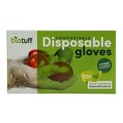 Biotuff Compostable Disposable Gloves Medium 200 Pack