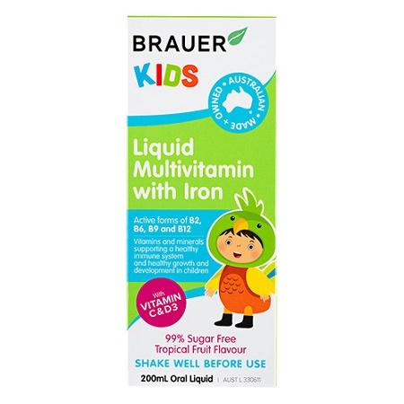 Brauer Kids Multivitamin with Iron 200ml