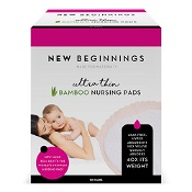 New Beginnings Bamboo Nursing Pads Ultra Thin Disposable 30 Pack