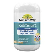 Natures Way Kids Smart Complete Multi + High DHA Fish Oil 99.9% Sugar Free 100 Capsules (Expiry: November 2021, no refunds or exchanges)