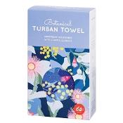 Turban Hair Towel Assorted Botanical Designs (Colour selected at random)