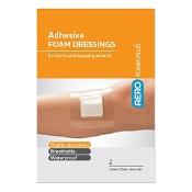AeroFoam Adhesive Foam Dressing 10cm x 10cm 2 Pack