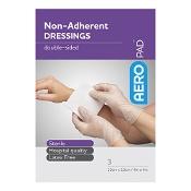 AeroPad Non-Adherent Dressing 10cm x 10cm 3 Pads
