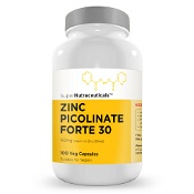 SuperNutraceuticals Zinc Picolinate 30mg Capsules 100 {Compounded}