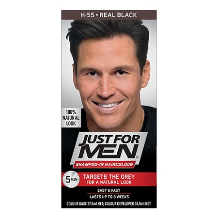 Just For Men Shampoo-In Haircolour Real Black 60ml