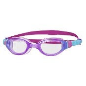 Zoggs Junior Phantom Swim Goggles Purple & Blue with Clear Lenses (6 to 14Yrs)