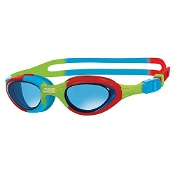 Zoggs Junior Super Seal Swim Goggles Blue & Camo with Tinted Lenses (6 to 14Yrs)