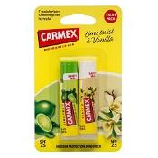 Carmex Lip Balm Stick Lime & Vanilla Twin Pack