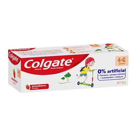 Colgate Kids Anticavity Fluoride 4-6 Years Strawberry Toothpaste 80g