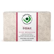 Organic Formulations Rose Geranium Soap 100g