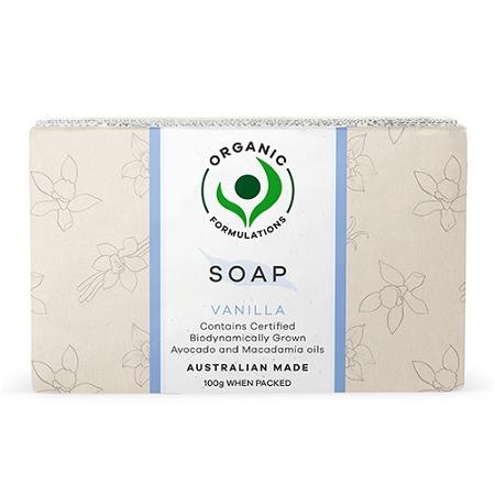 Organic Formulations Vanilla Soap 100g