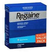 Regaine Mens Extra Strength Hair Loss Treatment 60ml x 4 Pack