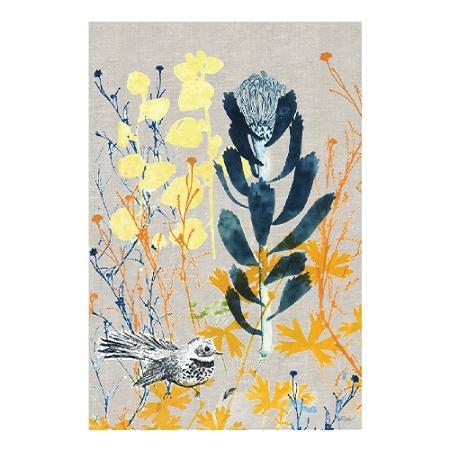 KE Design Linen Tea Towel Protea