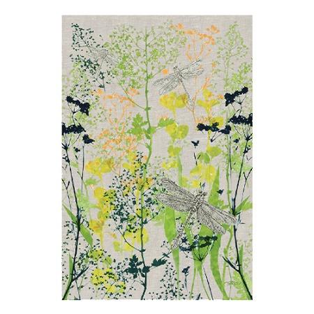 KE Design Linen Tea Towel Dragonfly